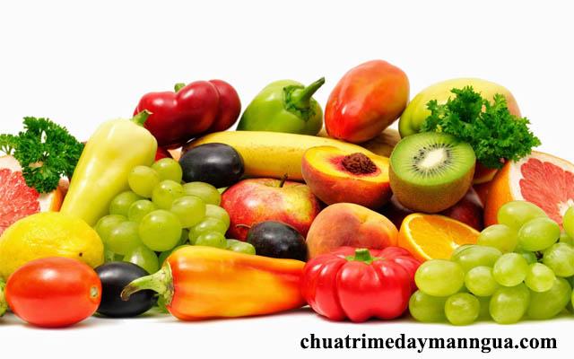 Bổ sung trái cây chữa bệnh nổi mề đay sau sinh