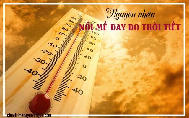 Làm thế nào để khắc phục tình trạng nổi mề đay do thời tiết