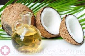 Chữa bệnh chàm bội nhiễm bằng dầu dừa