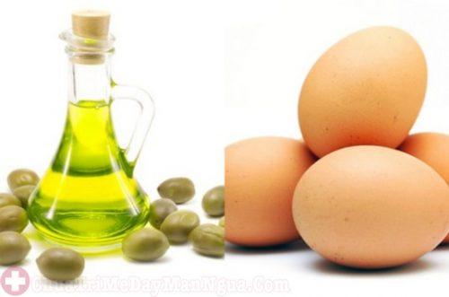 mật ong và dầu oliu trị dị ứng da mặt