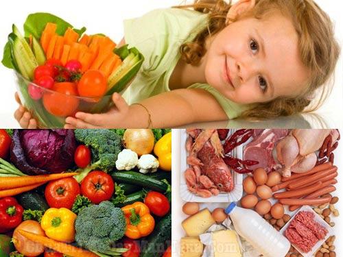 Chế độ ăn uống cho trẻ