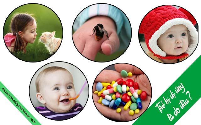 Nguyên nhân gây bệnh mề đay ở trẻ em