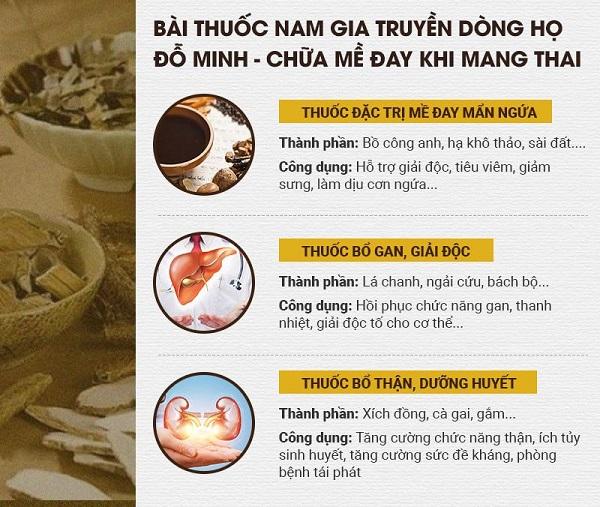 Bài thuốc chữa nổi mề đay ở phụ nữa mang thai của Đỗ Minh Đường