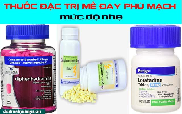 Thuốc chữa mề đay phù mạch