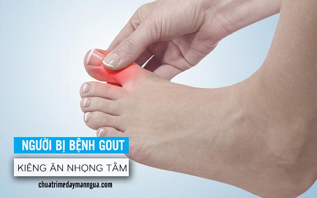Bệnh Gout không nên ăn nhộng tằm