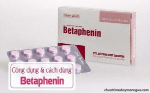 thông tin về thuốc Betaphenin