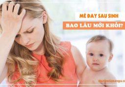 thời gian khỏi bệnh nổi mề đay sau khi sinh