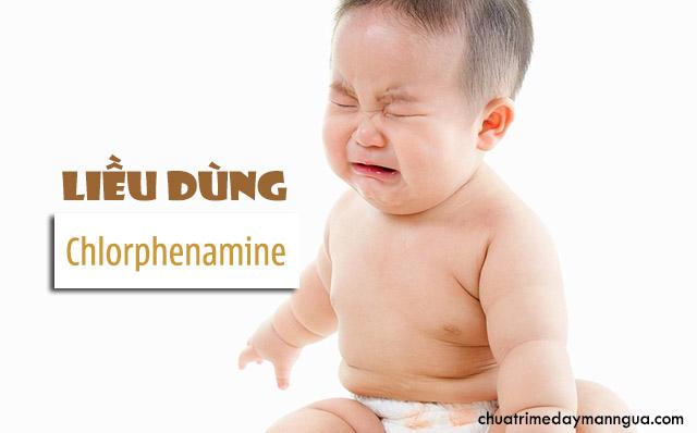 hướng dẫn sử dụng Chlorphenamine