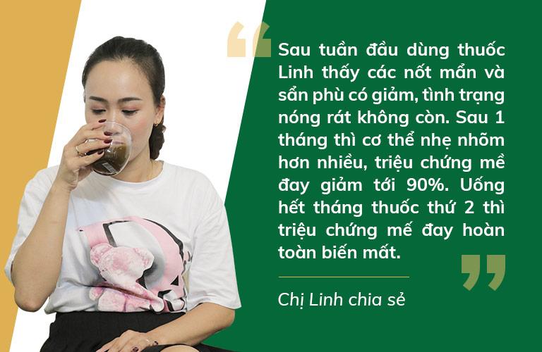 Nhờ bài thuốc thảo dược của Trung tâm Thuốc dân tộc, diễn viên Khánh Linh đã dứt điểm mề đay sau 2 tháng sử dụng